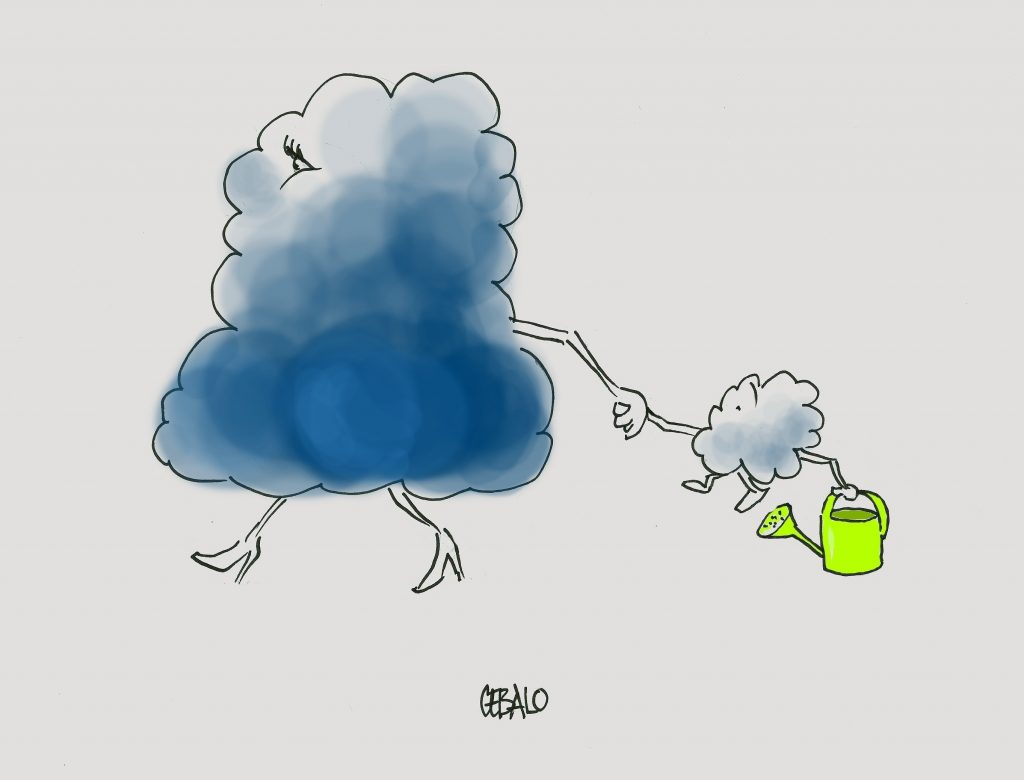 Cartoon by Frano Cebalo: Clouds
