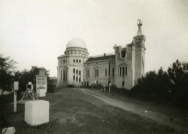Fabra Observatory in 1932. Photo credit: Arxiu Històric de la Ciutat de Barcelona (Historical Archive of the City of Barcelona).