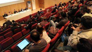Audience at the ACAM XXIV Eduard Fontserè Symposium on Meteorology held in December 2018. Photo credit: Enric Pera.