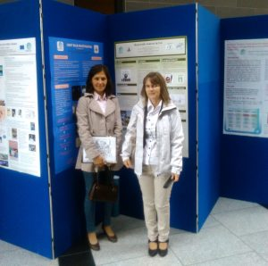 Ildikó Lucz and Edith Szombati at the PARRISE Final Conference in Dublin by their posters