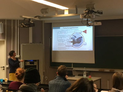 One of the presentations given during the job fair, here by Marion Maturilli, Alfred-Wegner-Institut (photo credit: Carola Detring)