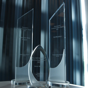 EMS Media Awards trophies