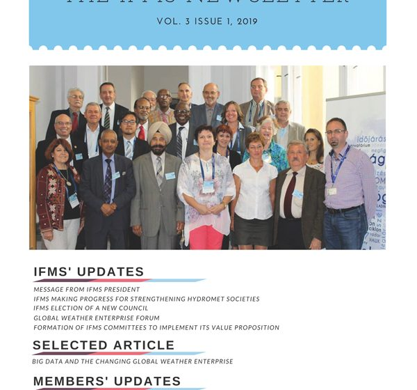 Cover of IFMS Newsletter 3 with participants of the IFMS Global Meeting 5, September 2018, Budapest.