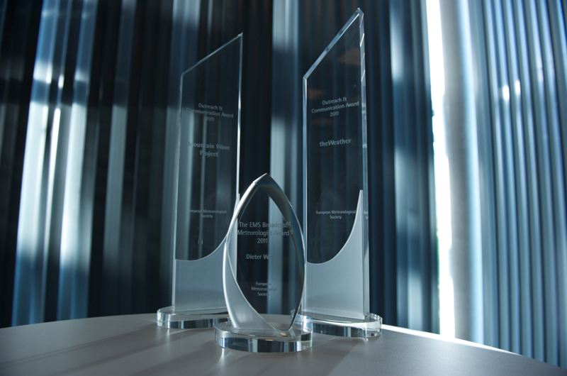 EMS Media Awards trophies