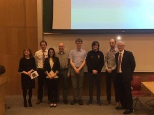 Evelyn Cusack, Tadhg O'Shea, Lucia Hermida, Andy Ruth, David and Diarmaid from the UCC Physics and Astronomy Society, Colm Clancy, Declan Murphy of the IMS