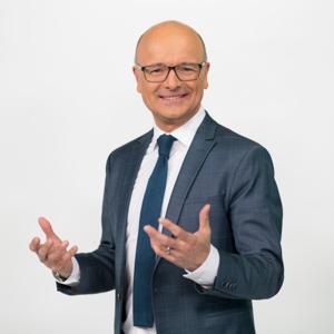 Karsten Schwanke, Germany: EMS TV Weather Forecast Award 2019 (photo credit: ARD/Ralf Wilschewski)