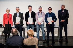 2019 recipients of TFTAYS at the awards ceremony together with T.Cegnar and Wop Rietveld from the selection committee