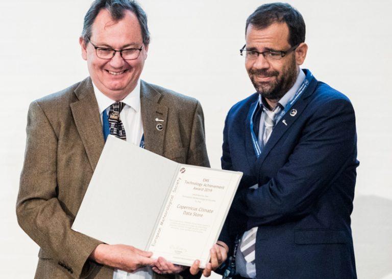 Award Presentation on 9 September 2019 in Lyngb, Denmark: Baudouin Raoult (left) and Cédric Bergeron