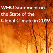 Report cover of the World Meteorological Organization Statement on the State of the Climate 2019