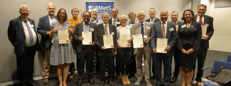 Award winners for 2018, presented at the RMetS AGM in May 2019.