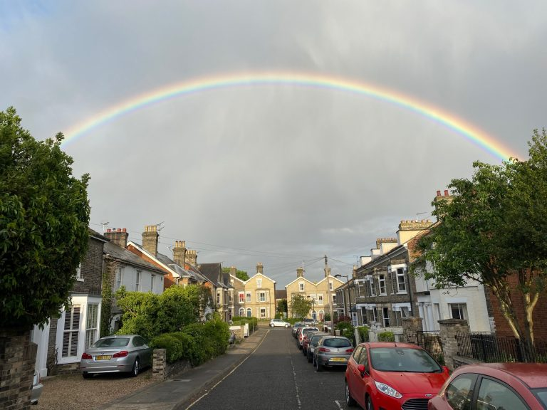 Rainbow in Lockdown Street © Ollie Bevan-Thomas