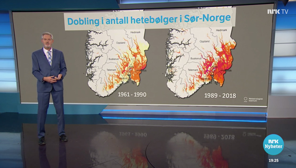 John Smits says that the number of heat waves have doubled in Norway the last 30 years