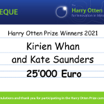 Kirien Whan and Kate Saunders win the Harry Otten Prize 2021